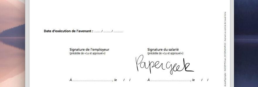 signer un document PDF